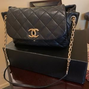 Chanel retro flap, purchased in Neiman and Marcus.